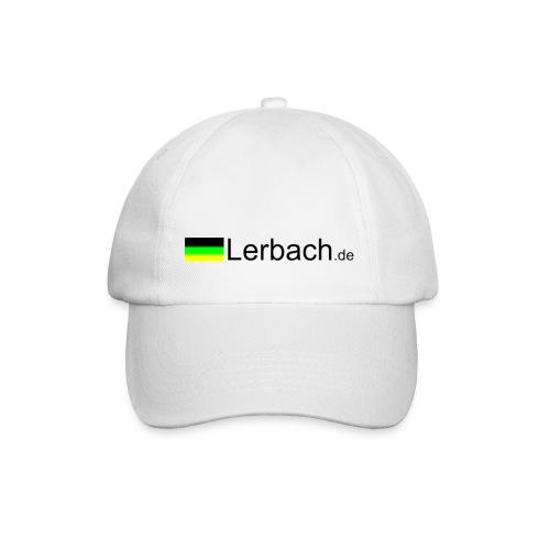 Weiß mit Logo - Baseballkappe