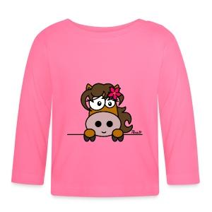 T-shirt ml bébé Poney Fleur, Cheval, Pony - T-shirt manches longues Bébé