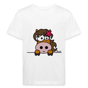 T-shirt Bio Enfant Poney Fleur, Cheval, Pony - T-shirt bio Enfant