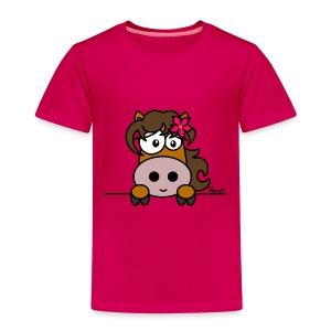 T-shirt P Enfant Poney Fleur, Cheval, Pony - T-shirt Premium Enfant