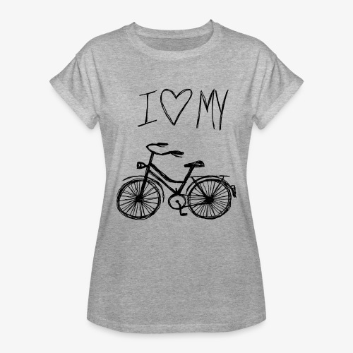Me encanta mi bici-Camiseta Mujer - Camiseta holgada de mujer