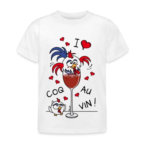 T-shirt Enfant Coq au Vin, France, Cuisine - T-shirt Enfant