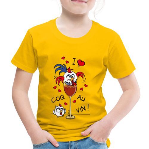 T-shirt P Enfant Coq au Vin, France, Cuisine - T-shirt Premium Enfant
