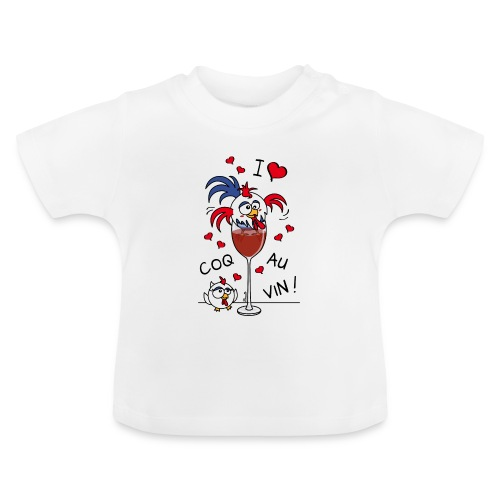T-shirt Bio Bébé Coq au Vin, France, Cuisine - T-shirt Bébé