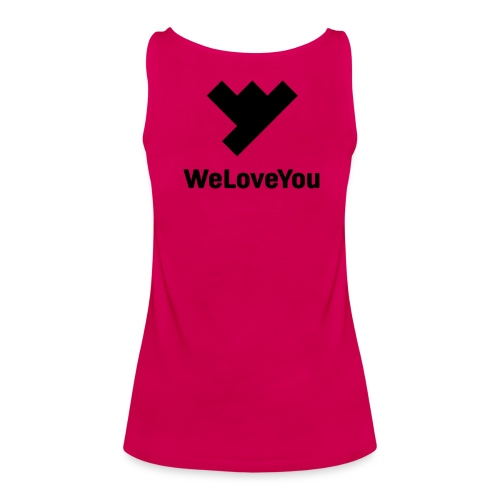 WLY Top Pink Woman, Black Logo - Frauen Premium Tank Top