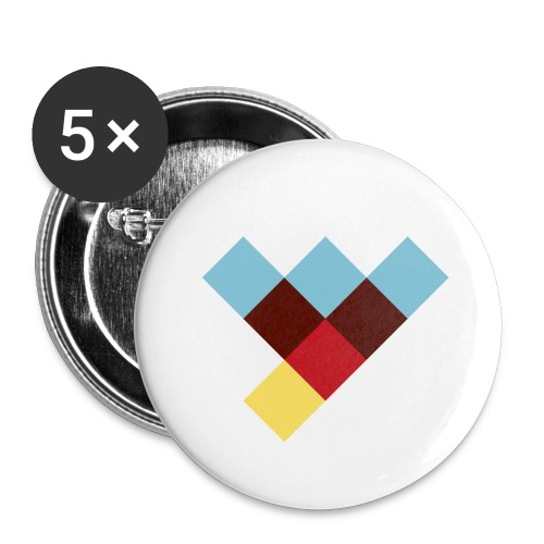 WLY Button small - Buttons klein 25 mm (5er Pack)