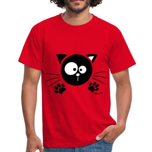 T-shirt BC Homme Chat noir, Chaton, Félin - T-shirt Homme