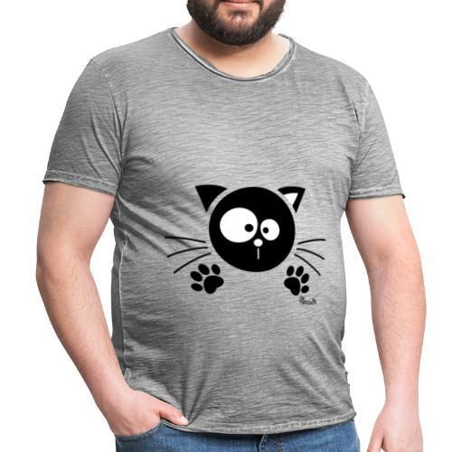 T-shirt Vintage Homme Chat noir, Chaton, Félin - T-shirt vintage Homme