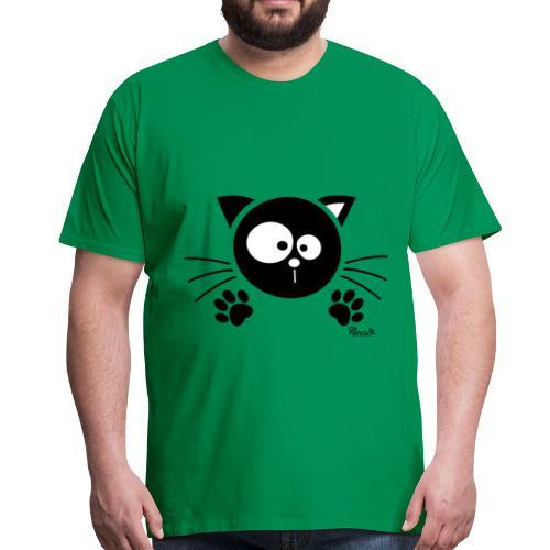 T-shirt P Homme Chat noir, Chaton, Félin - T-shirt Premium Homme