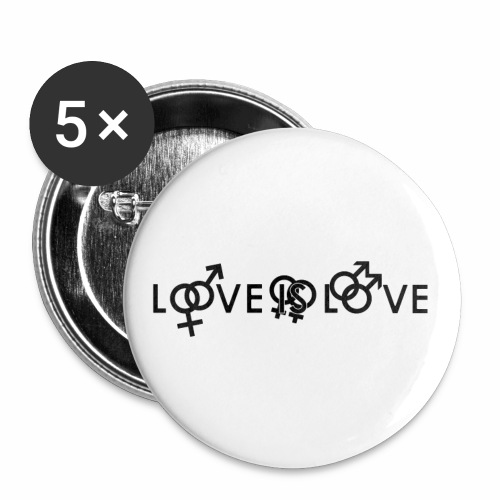 Love Is Love-Button klein - Buttons klein 25 mm