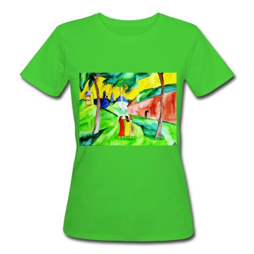 Neuer Morgen, Organic Frauen Bio T-Shirt - Frauen Bio-T-Shirt
