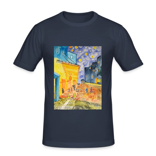 Nachtcafé, Männer Slim Fit T-Shirt  - Männer Slim Fit T-Shirt