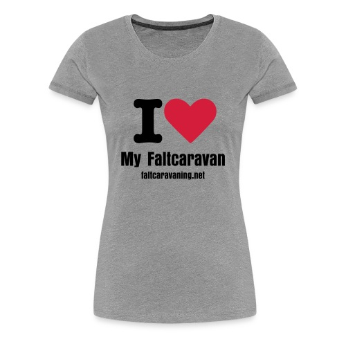 I Love my Faltcaravan Frauen T-Shirt - Frauen Premium T-Shirt