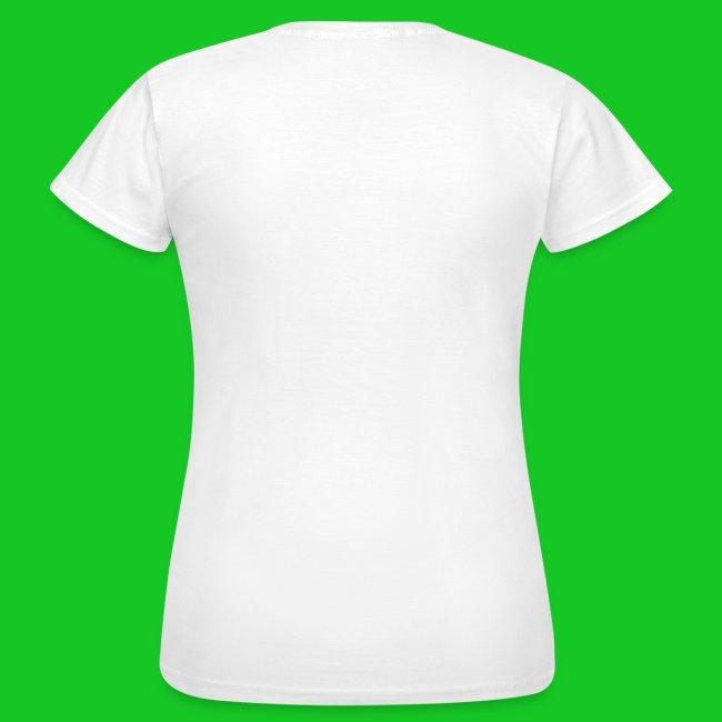 Ooievaar met baby jongetje dames t-shirt