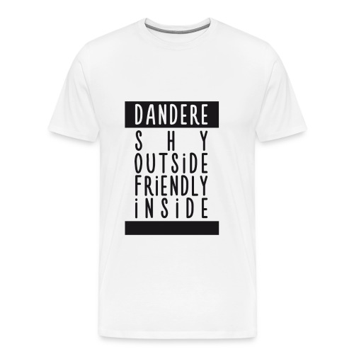 ♂ - Dandere - Shy & Friendly - Men's Premium T-Shirt