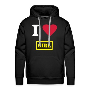 Sweat I love girl - Sweat-shirt à capuche Premium pour hommes