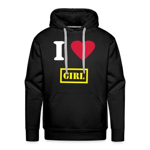 Sweat I love girl - Sweat-shirt à capuche Premium pour hommes