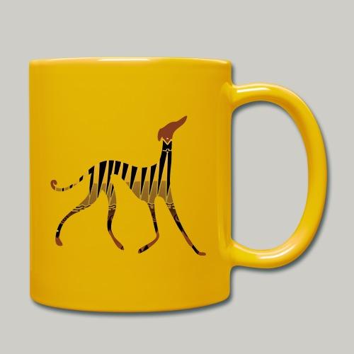 Mug uni - Lévrier de l'Azawakh sur motif africain.