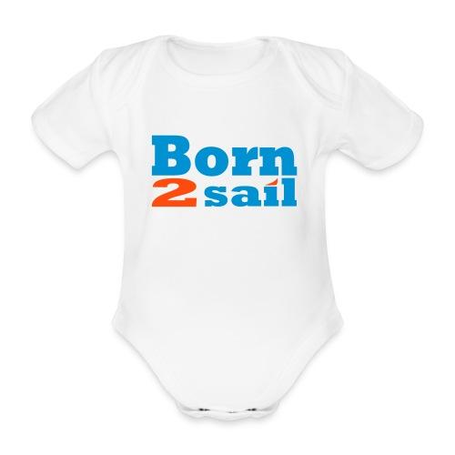 Born to play Soccer - Baby bio-rompertje met korte mouwen
