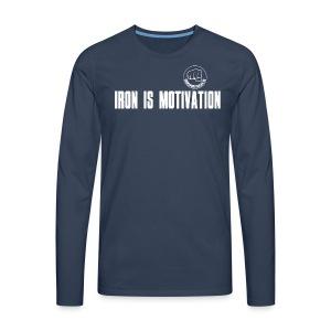 IRON IS MOTIVATION - Männer Premium Langarmshirt