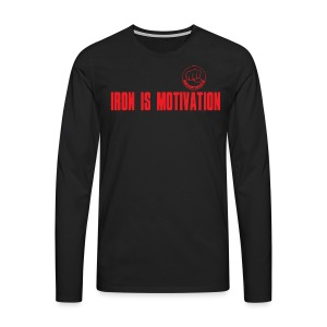 IRON IS MOTIVATION - Männer Premium Langarmshirt