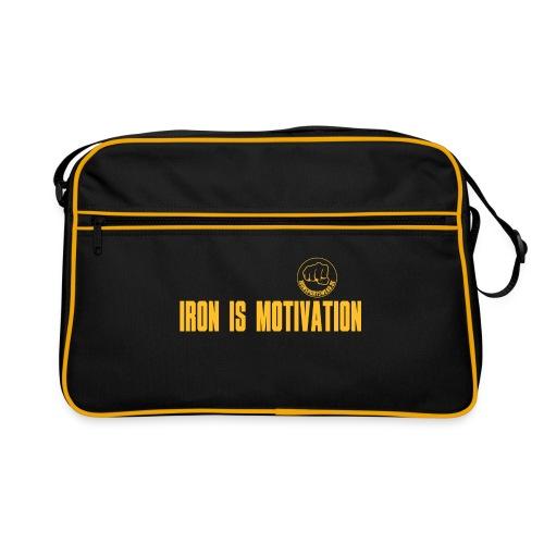 IRON IS MOTIVATION - Retro Tasche