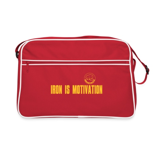 IRON IS MOTIVATION - Retro Tasche
