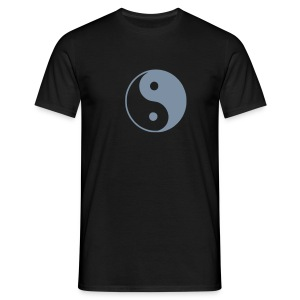 Yang Black Silver - Men's T-Shirt