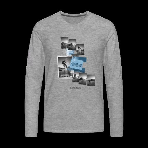 Skateboarding KICKFLIP SEQUENCE - Männer Premium Langarmshirt