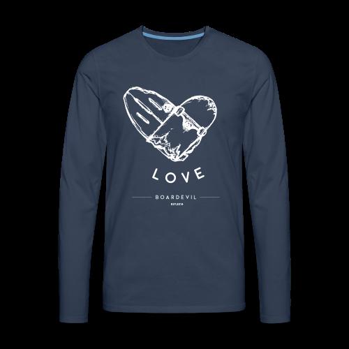 BOARDEVIL LOVE - Männer Premium Langarmshirt