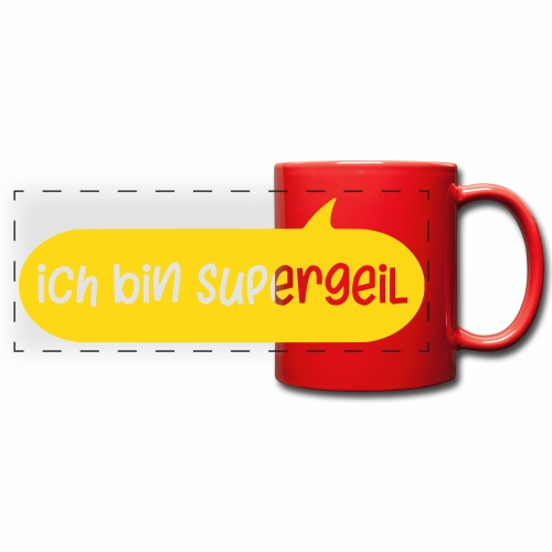 Ich Bin Supergeil German Colour Mug - Full Color Panoramic Mug