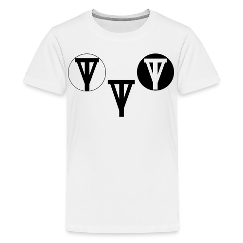 t-shirt triple logo kids - Teenager Premium T-shirt