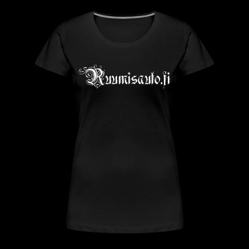Goottiromanttinen logo, naisten t-paita etupainatuksella - Naisten premium t-paita