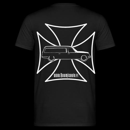 Rautaristi & Kalmanrauta, t-paita selkäpainatuksella - Miesten t-paita