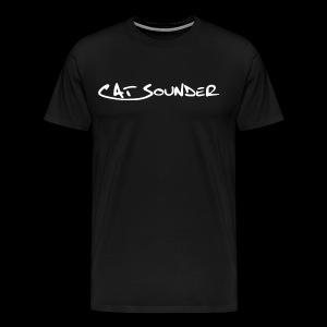 T-Shirt Catsounder - schwarz/weiß - Männer Premium T-Shirt