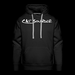 Hoodie Catsounder - schwarz/weiß - Männer Premium Hoodie