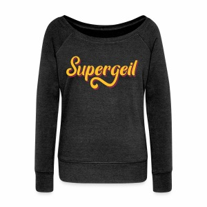 Supergeil Women's Boat Neck Top - Women's Boat Neck Long Sleeve Top