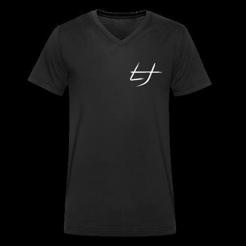 LJ-Brush Schwarz Männer T-Shirt V-Ausschnitt - Männer Bio-T-Shirt mit V-Ausschnitt von Stanley & Stella