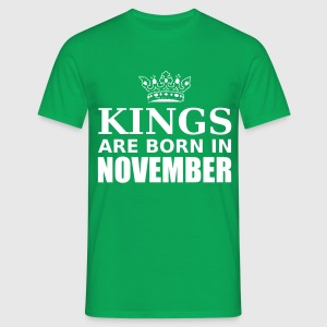 kings are born in november T-Shirts - Men's T-Shirt