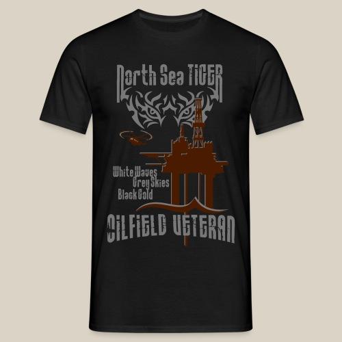 North Sea Tiger Oil Field Veteran - Men's T-Shirt
