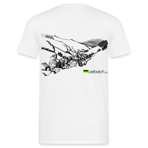 Lerbachtal hinten weiß - Männer T-Shirt