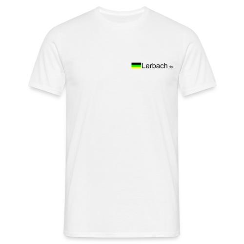 Lerbachtal hinten, Logo vorn; weiß - Männer T-Shirt