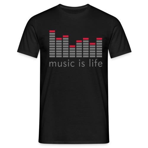Music is life - T-shirt herr
