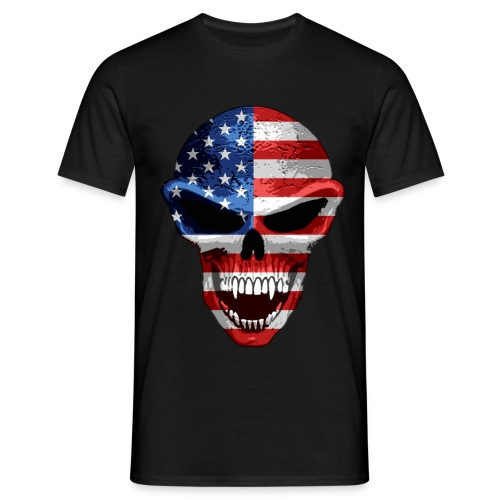 patriot skull - Men's T-Shirt
