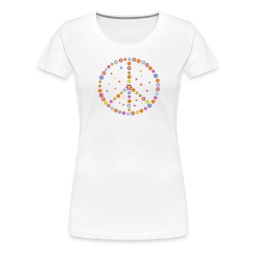 Peace - Flower Power - Frauen Premium T-Shirt
