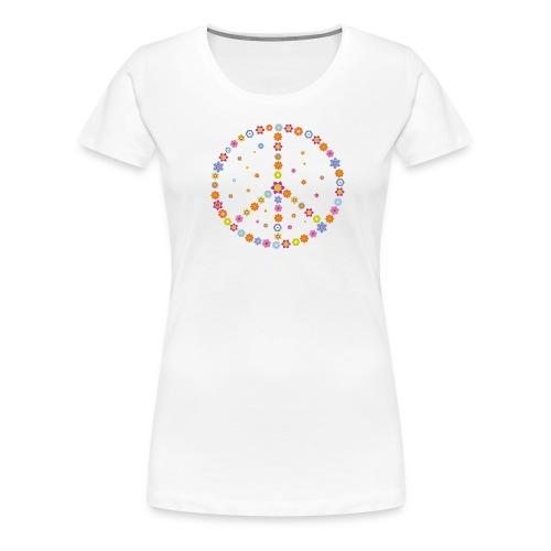 Peace - Flower Power - Frauen Premium T-Shirt