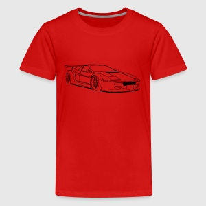 cool car outlines T-Shirts - Teenager Premium T-Shirt