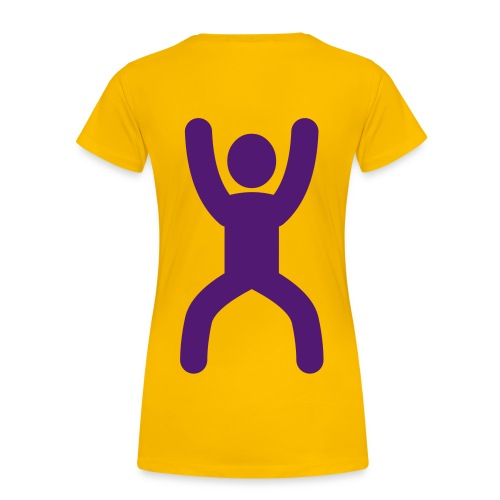 happy stretching woman - Women's Premium T-Shirt