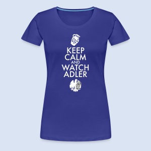 FRANKFURT DESIGN ADLER FANS - KEEP CALM - Frauen Premium T-Shirt