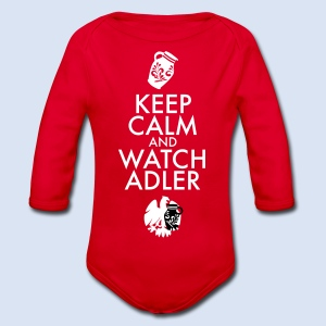 FRANKFURT DESIGN ADLER FANS - KEEP CALM - Baby Bio-Langarm-Body